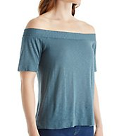 Splendid Off The Shoulder Elbow Sleeve Tee ST10710
