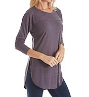 Splendid Heathered Crew Neck Long Sleeve Tee ST10946