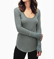 Splendid Nordic Thermal 1x1 Rib Trim Long Sleeve Tee ST10985