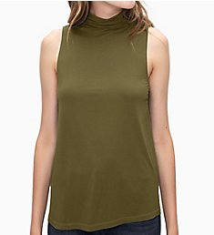 Splendid Rayon Jersey Sleeveless Turtleneck Tee ST11719