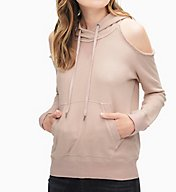 Splendid Soft Cotton Cold Shoulder Hoodie ST11732