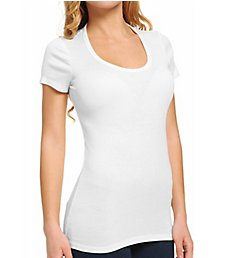 Splendid Jersey 1x1 Ribbed Short Sleeve Scoop Neck Tee TAG1614