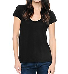 Splendid Very Light Jersey Short Sleeve Scoop Neck Tee TMJ7358