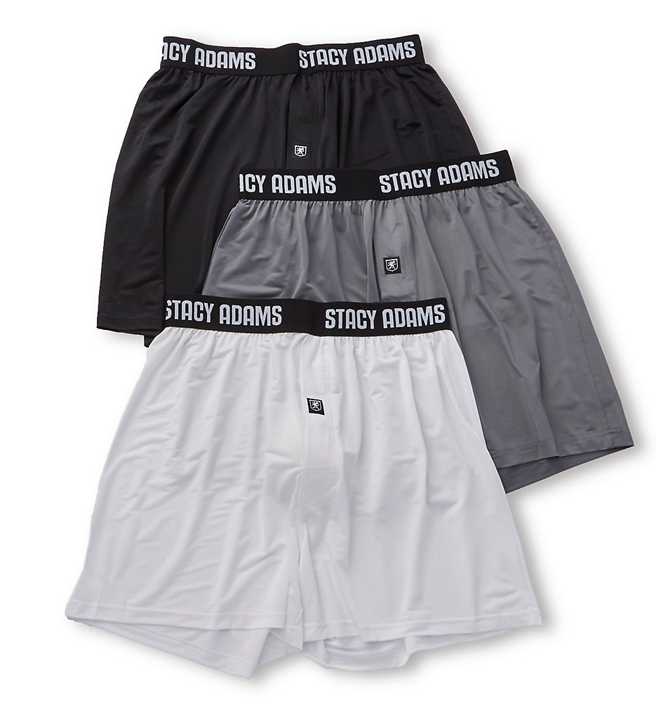 Stacy Adams Moisture Wicking ComfortBlend Boxer Short - 3 Pack SA1000PK