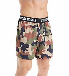 Stacy Adams Moisture Wicking Camo Print Boxer Short SA1002