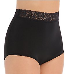 Teri Grace Lace Trim Microfiber Brief Panty 313