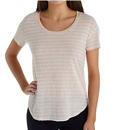 Three Dots Saguaro Stripe Crew Neck Short Sleeve T-Shirt GO1522
