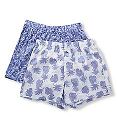 Tommy Bahama Printed Cotton Woven Boxers - 2 Pack TB12068