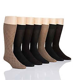 Van Heusen Solid Texture Dress Socks - 7 Pack 173DR21