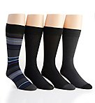 Van Heusen Flex Fashion Dress Socks - 4 Pack 173DR60