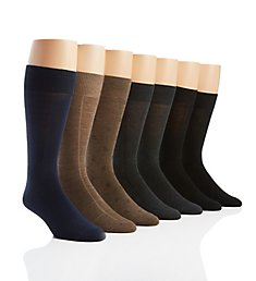 Van Heusen Flat Knit Solid Dress Socks - 7 Pack 193DR01