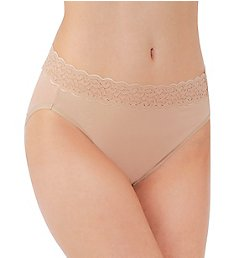 Vanity Fair Flattering Lace Cotton Stretch Hi-Cut Brief Panty 13395