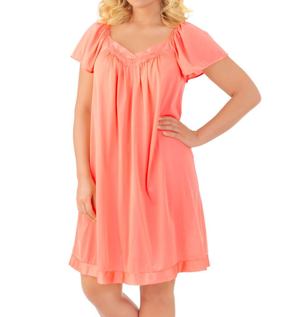 Vanity Fair Coloratura Flutter Sleeve Gown 30109