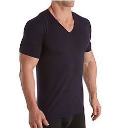 Zimmerli Linear Compositions Cotton V-Neck T-Shirt 1448281