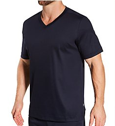 Zimmerli Supreme Green Cotton Short Sleeve Pajama Shirt 6095301