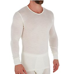 Zimmerli Wool & Silk Blend Long Sleeve T-Shirt 7101451